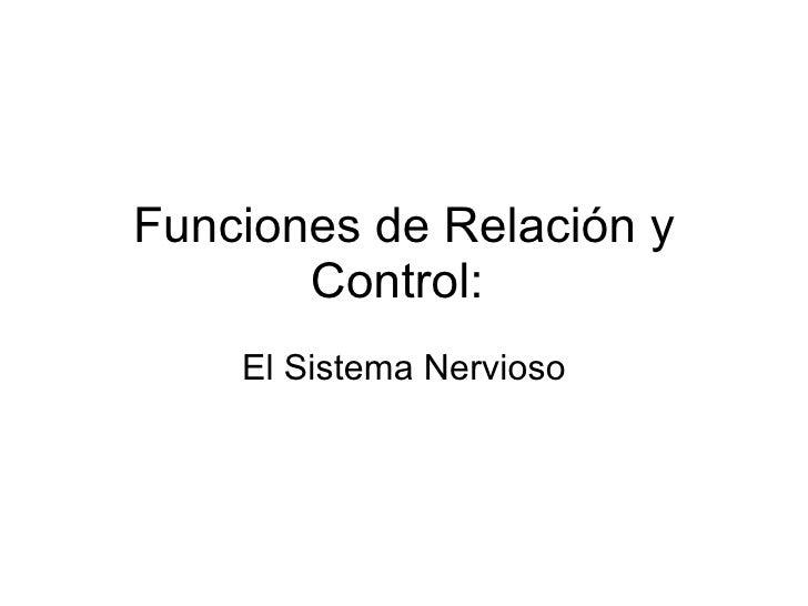 Funciones de Relación y Control:  El Sistema Nervioso