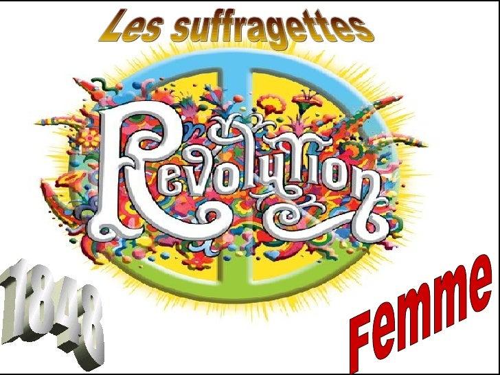 Révolution  1848 Femme Les suffragettes