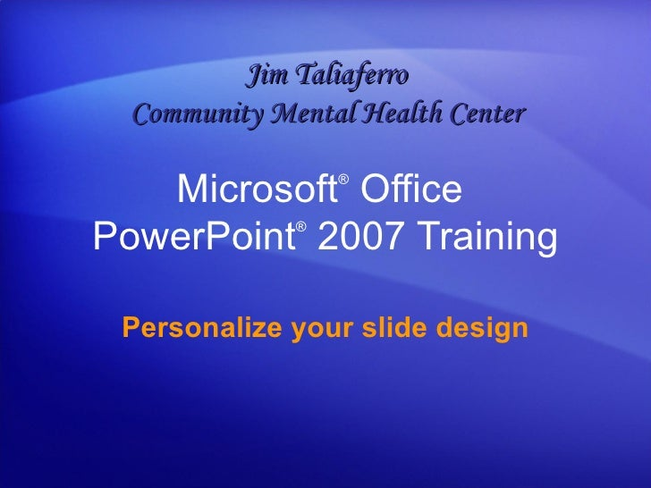 slide design for powerpoint 2007
