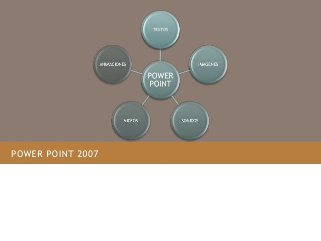 POWER POINT 2007 POWER POINT TEXTOS IMAGENES SONIDOSVIDEOS ANIMACIONES