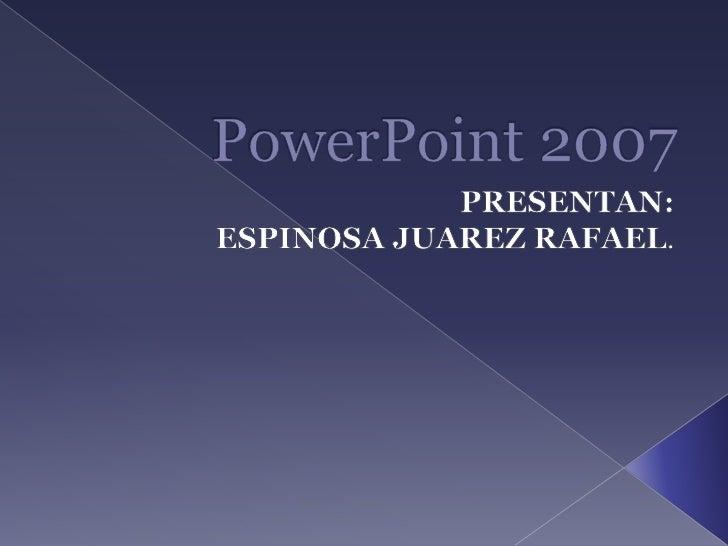 Pantalla principal PowerPoint.                          ICONOS DE                                                        C...