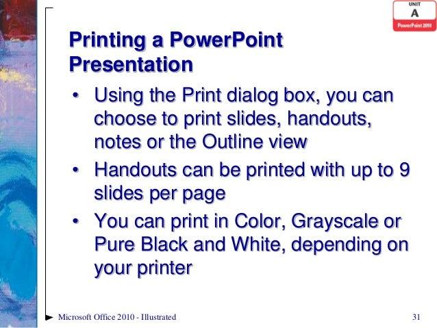 Powerpoint 2010 Unit A PPT