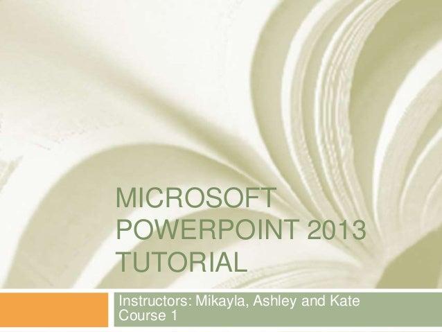 microsoft powerpoint 2013 tutorial pdf