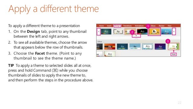 facet theme powerpoint