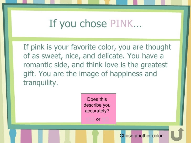 if your favorite color is pink