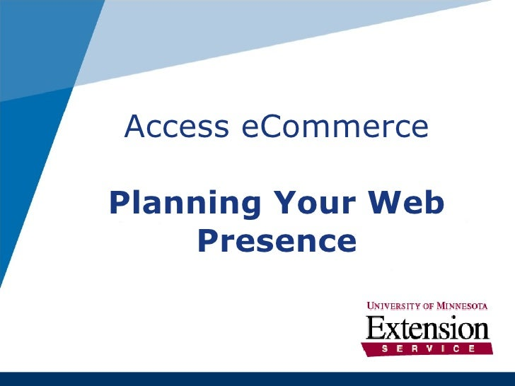 Access eCommerce Planning Your Web Presence