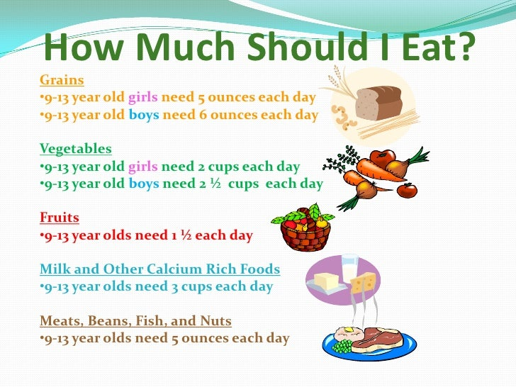 How Much Food Should A  Year Old Eat