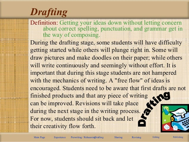 Generative writing and drafting are similar in which way you can