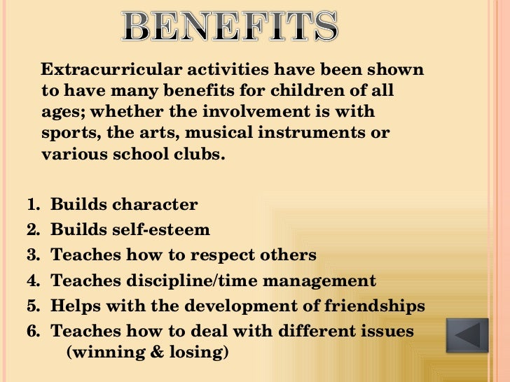the advantages and disadvantages of extracurricular activities to students The advantages and disadvantages of homework attend extracurricular activities and catch up with friends follow good schools guide on.