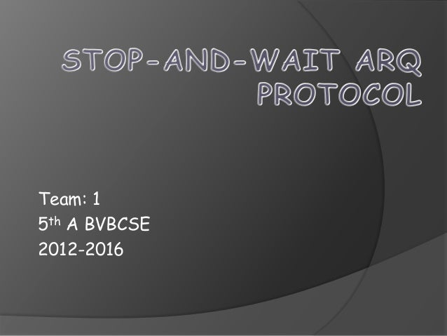 Team: 1  5th A BVBCSE  2012-2016