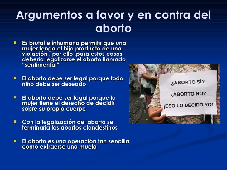 puntos de vista sobre el aborto a favor pretty girls