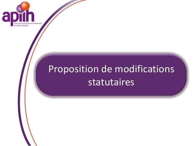Vote :Approbation des modificationsstatutaires ?