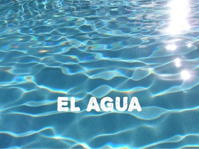 El agua para 1º Slide 2