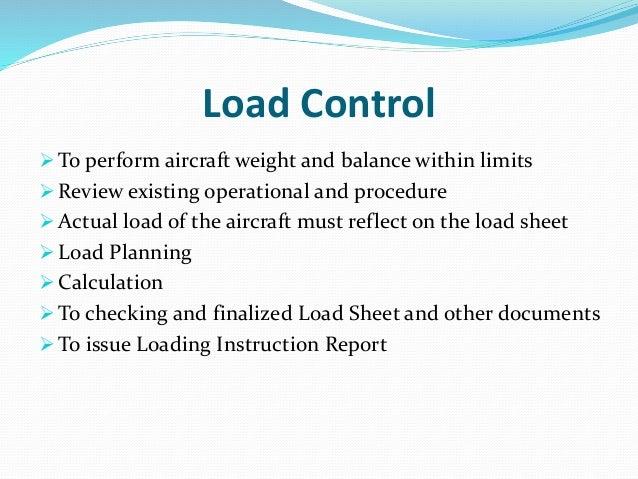 aircraft weight and balance procedure