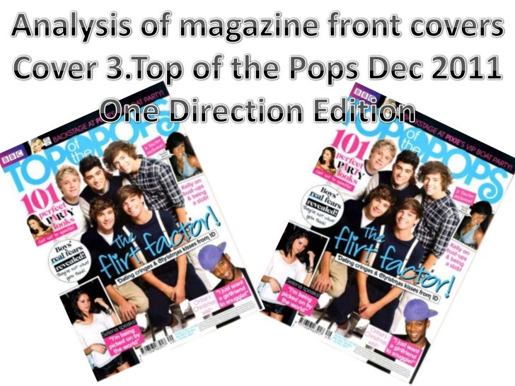 Producers/Creators – this is here to show that Top of the Pops originally was a show        Header – This gives informatio...