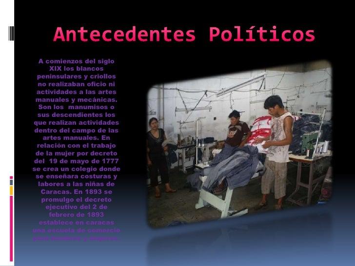 Antecedentes pol ticos econ micos y culturales del trabajo - Trabajos manuales remunerados ...