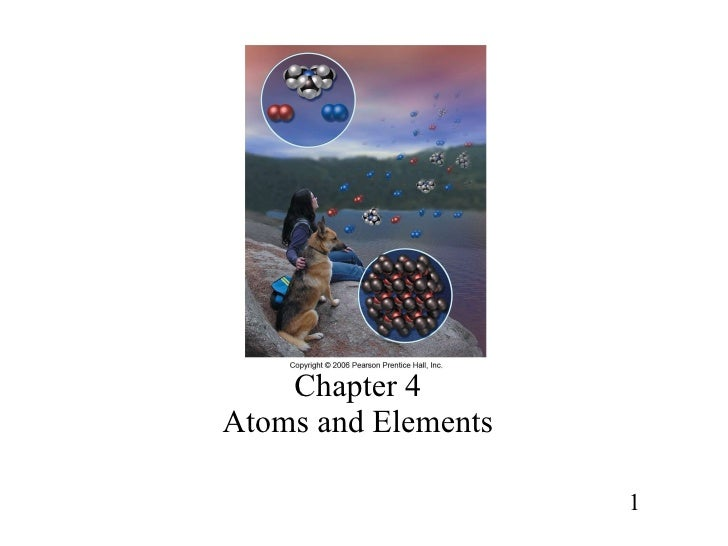 Chapter 4 Atoms and Elements