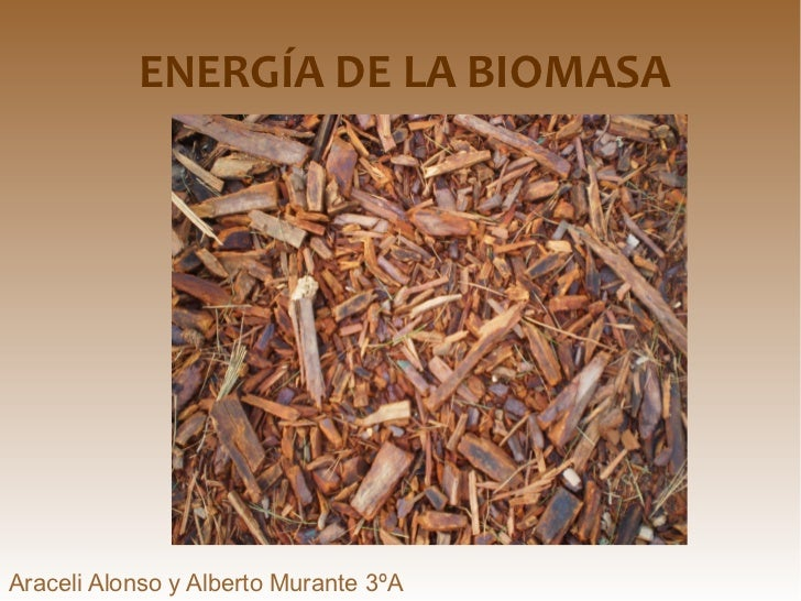 <ul>ENERGÍA DE LA BIOMASA Araceli Alonso y Alberto Murante 3ºA </ul>