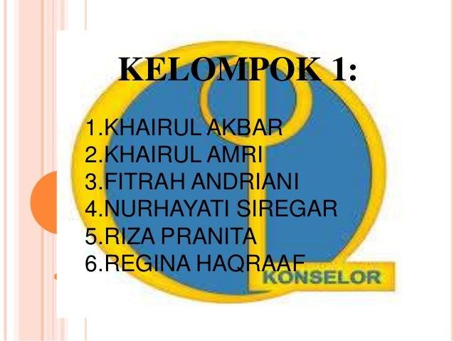 KELOMPOK 1 1. KHAIRUL AKBAR 2. KHAIRUL AMRI 3. FITRAH ANDRIANI 4. NURHAYATI SIREGAR 5. REGINA HAQRAAF 6. RIZA PRANITA KELO...