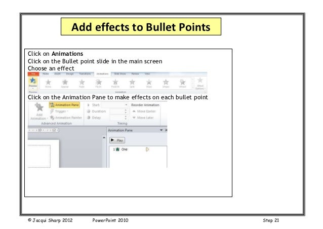 how to make powerpoint transitions happen on clicking a button