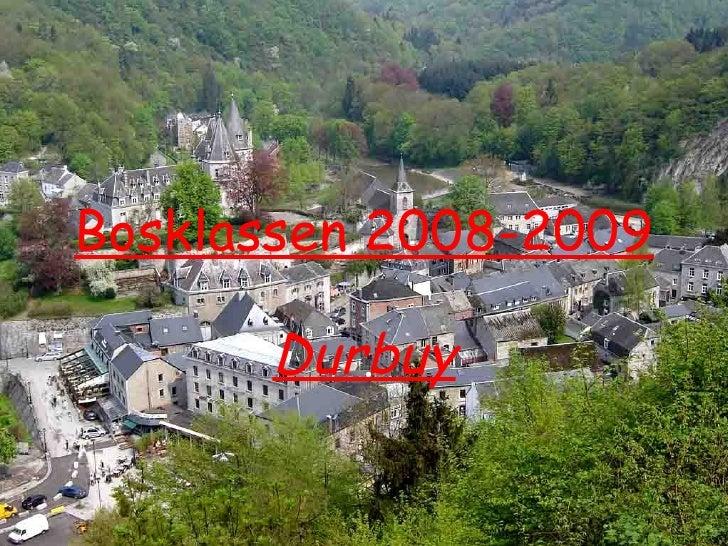 Bosklassen 2008-2009 Durbuy