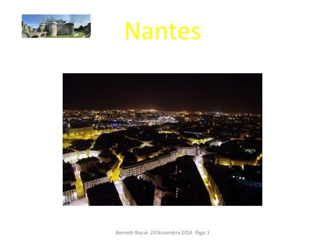 Nantes  Kenneth Bossé 24 Novembre 2014 Page 1