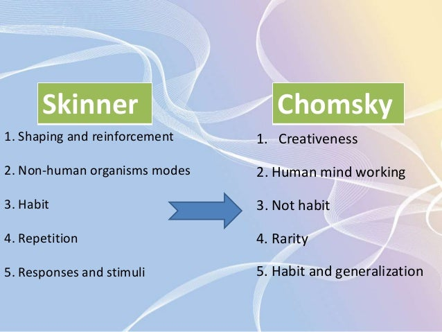 Nature Vs Nurture Skinner And Chomsky