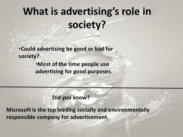 positive and negative effects of advertising on society