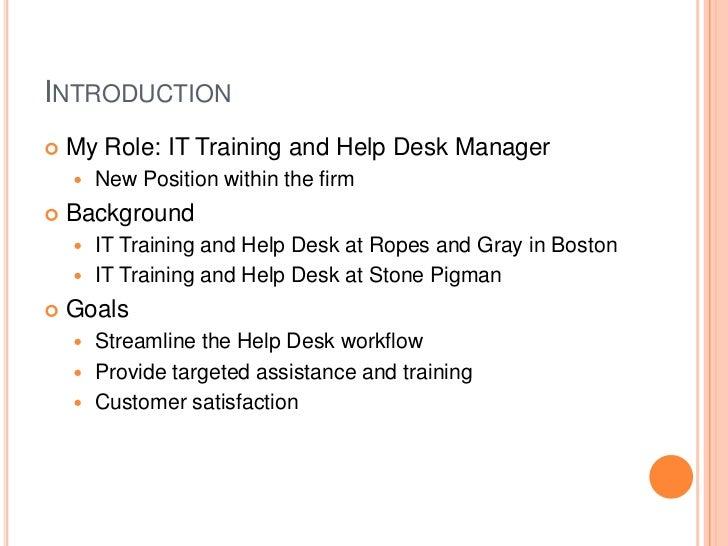 Powerpoint presentation service desk