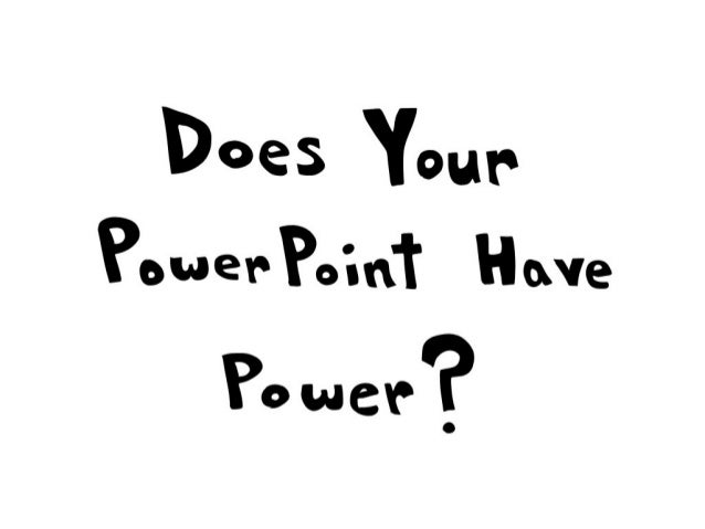 Powerpoint comic strip