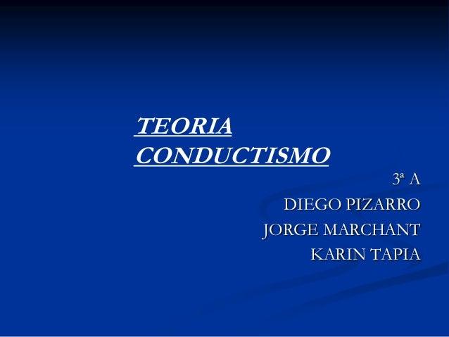 TEORIACONDUCTISMO                    3ª A         DIEGO PIZARRO       JORGE MARCHANT            KARIN TAPIA
