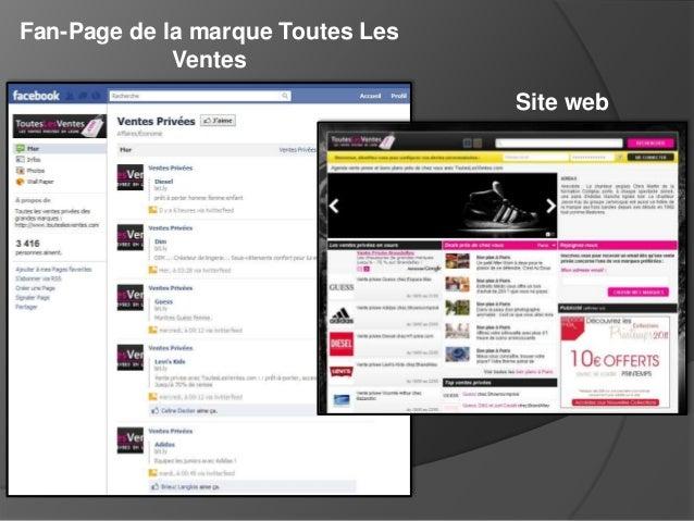 Fan-Page de la marque Toutes Les Ventes Site web