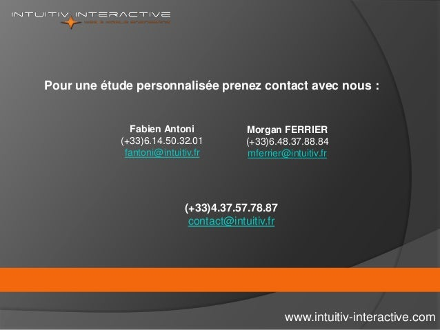 www.intuitiv-interactive.com Pour une étude personnalisée prenez contact avec nous : Fabien Antoni (+33)6.14.50.32.01 fant...