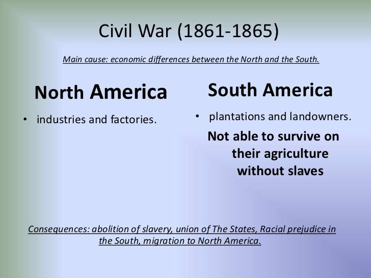 Cultural and Regional Differences - Civil War |Civil War North And South Differences