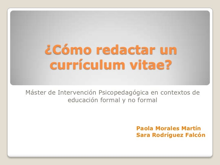 Power point currículum vitae