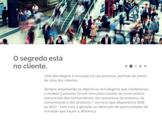 Apresentação de serviços Customer Driven Innovation Slide 3