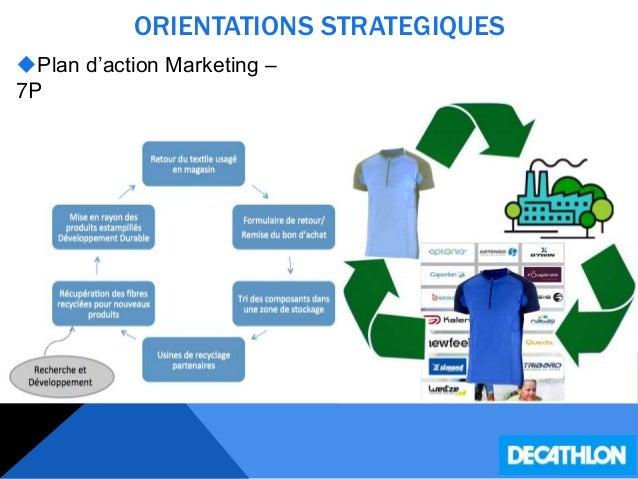 ORIENTATIONS STRATEGIQUES Plan d'action Marketing – 7P  Processus :