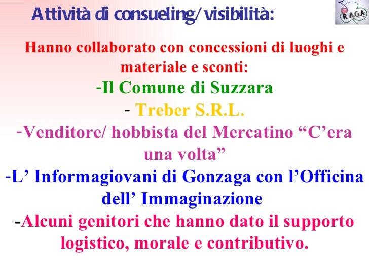Progetto raga 2011 for Gonzaga mercatino