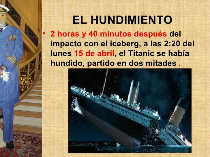 Resultado de imagen para 15 DE ABRIL UNDIMIENTO TITANIC