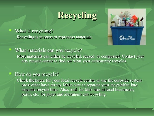 how to use the move recycle