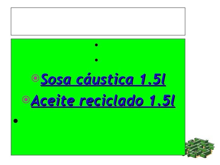 INGREDIENTES: <ul><li>Sosa cáustica 1.5l