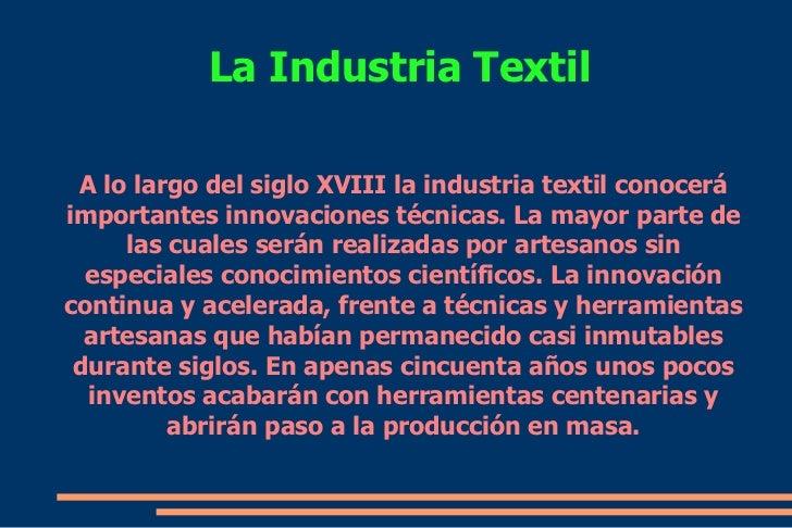 invenciones e innovaciones de la industria textil