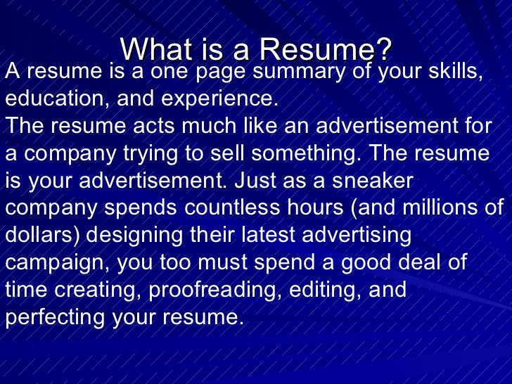 donts when writing a resume