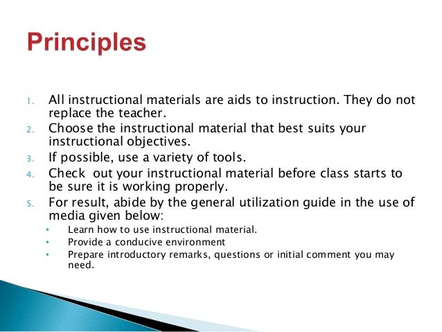 Selection and use of instructional materials for Use of waste material