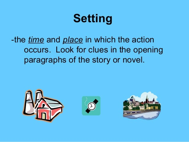 Elements of fiction setting character plot point of view theme.
