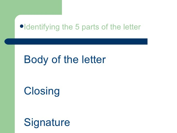 5 parts of the letter identifying the 5 parts of the letter heading greeting 3 thecheapjerseys Image collections