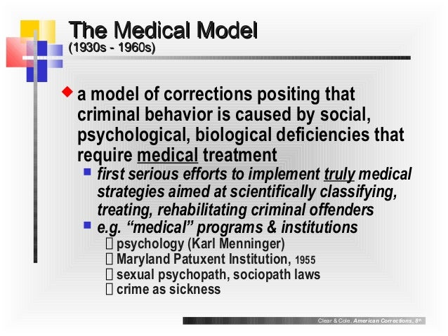medical model of corrections