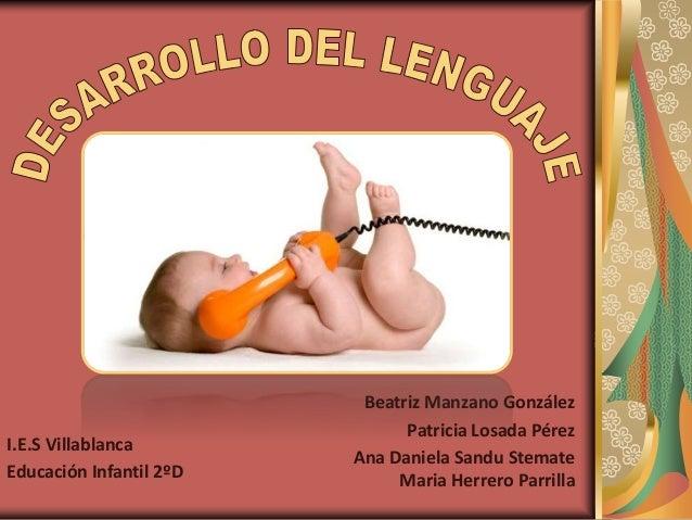I.E.S Villablanca Educación Infantil 2ºD  Beatriz Manzano González Patricia Losada Pérez Ana Daniela Sandu Stemate Maria H...