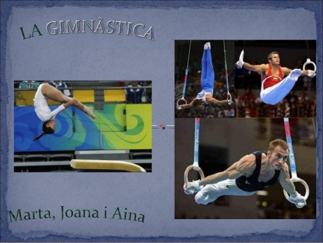 La gimnàstica és un esport que consisteix en fer una  sèrie de moviments corporals definits, sigui amb mans  lliures o amb...