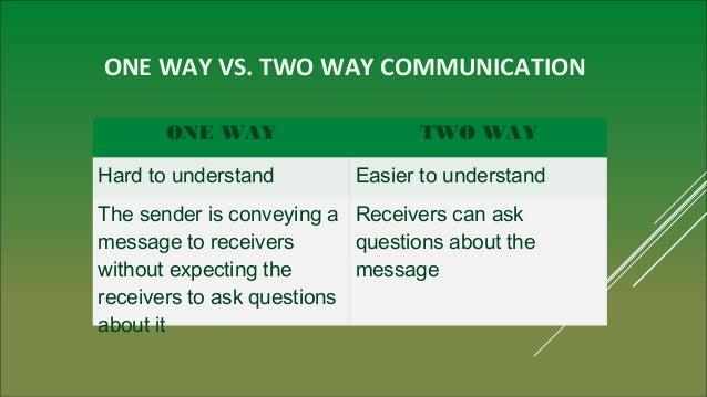 An analysis of two way communication